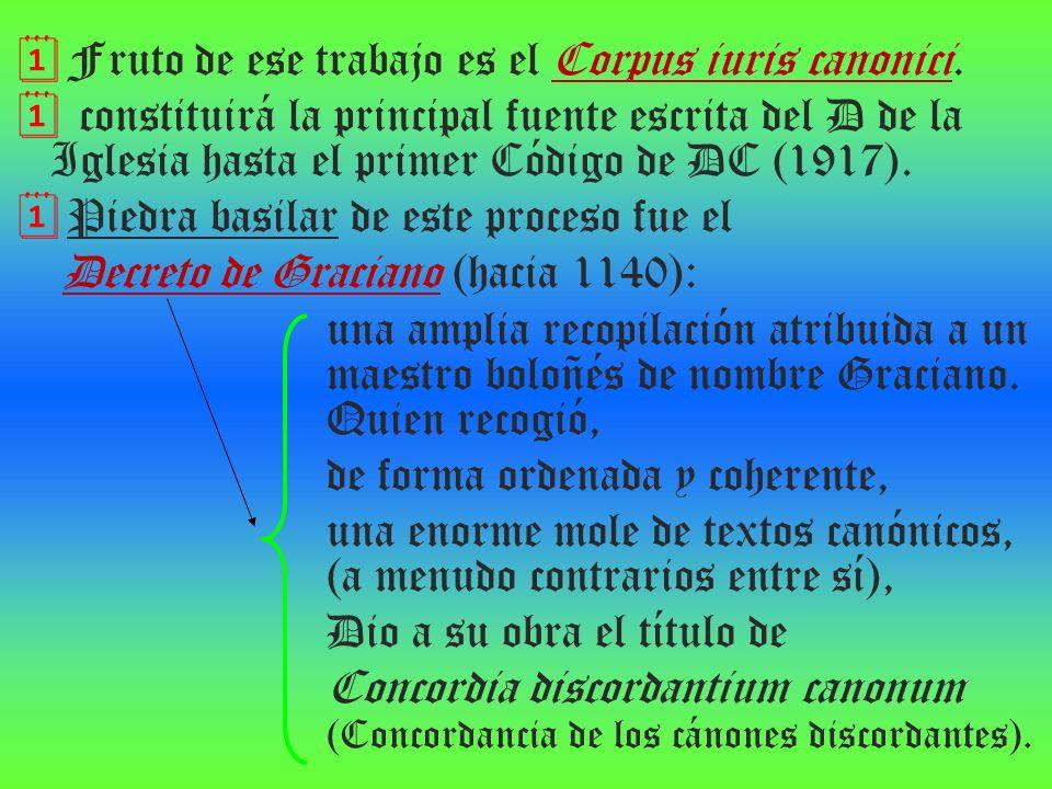Fruto de ese trabajo es el Corpus iuris canonici.