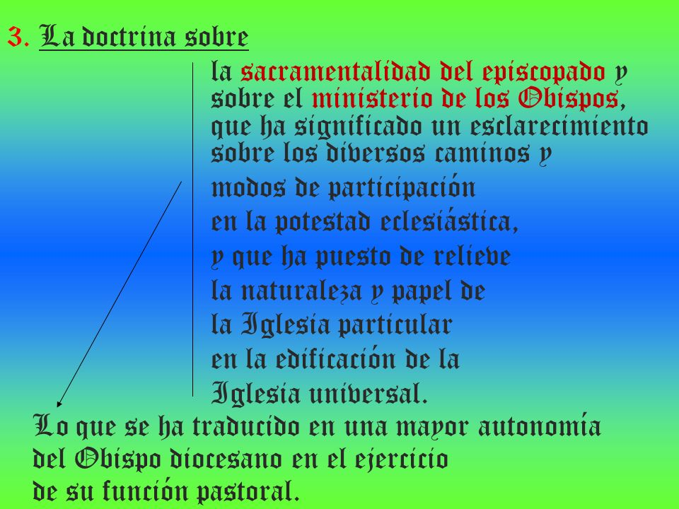3. La doctrina sobre