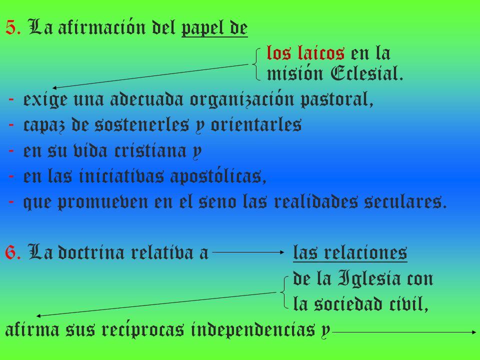 5. La afirmación del papel de