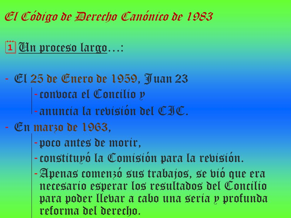 El Código de Derecho Canónico de 1983