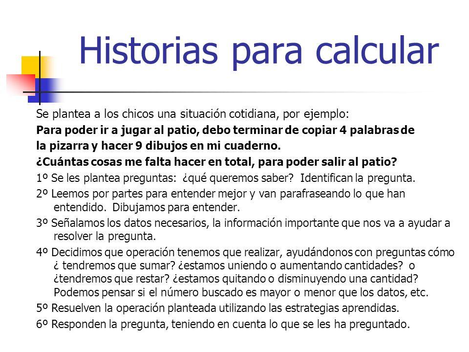 Historias para calcular