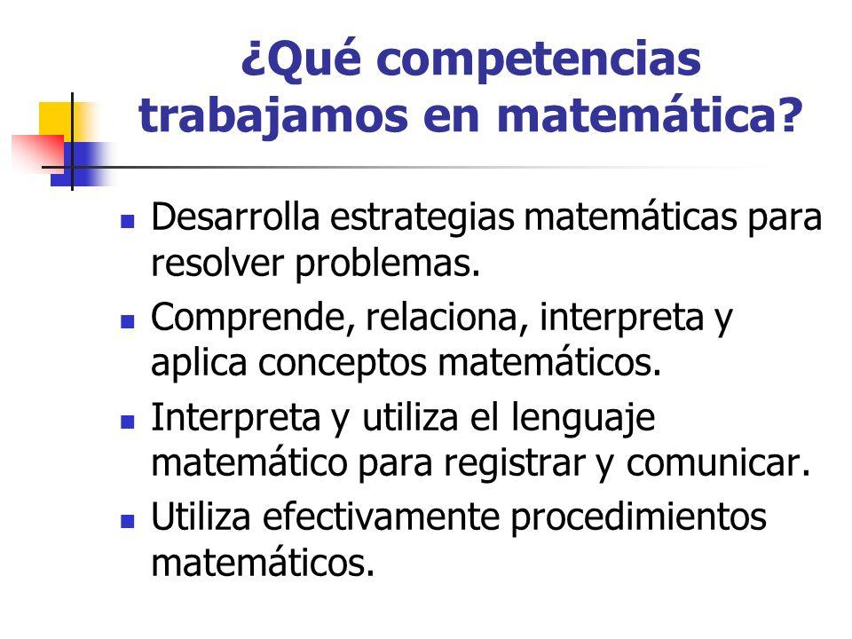 ¿Qué competencias trabajamos en matemática