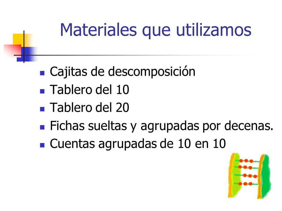 Materiales que utilizamos