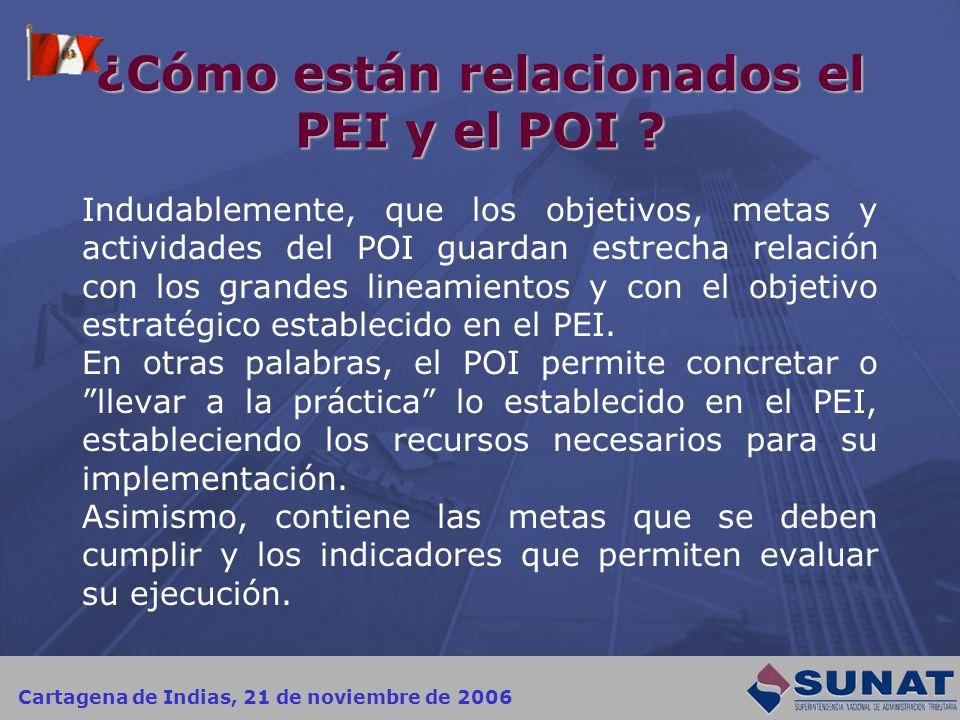 ¿Cómo están relacionados el PEI y el POI
