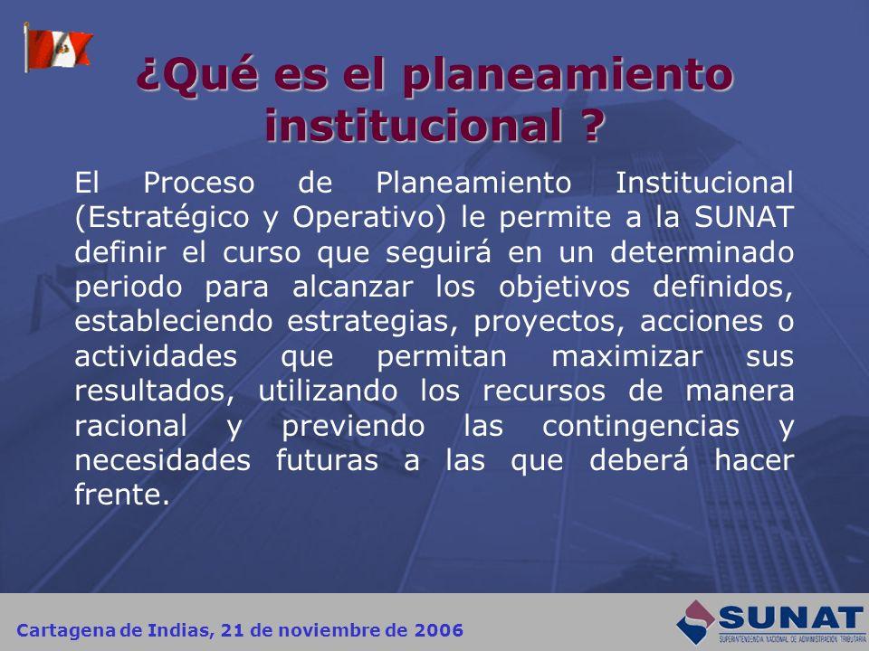 ¿Qué es el planeamiento institucional