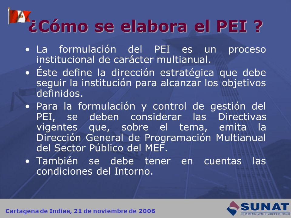 ¿Cómo se elabora el PEI La formulación del PEI es un proceso institucional de carácter multianual.