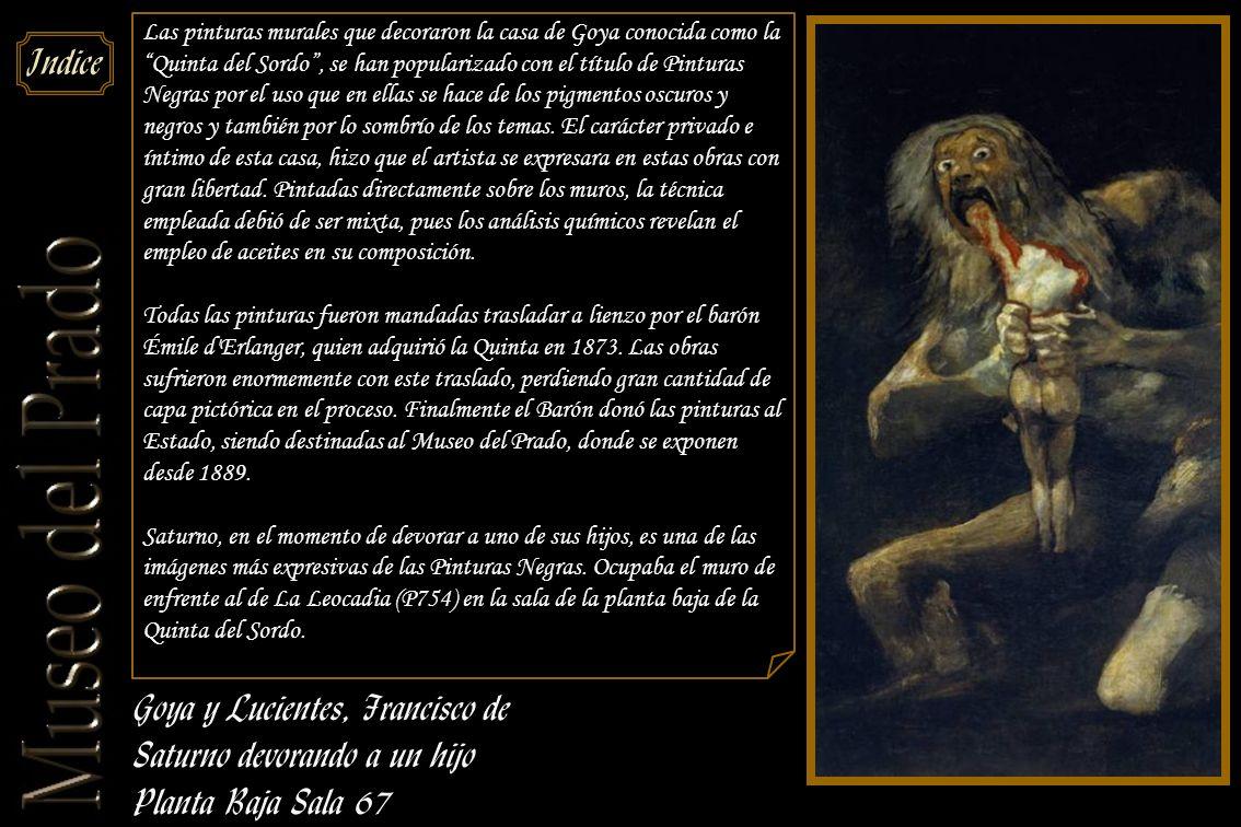 Goya y Lucientes, Francisco de Saturno devorando a un hijo