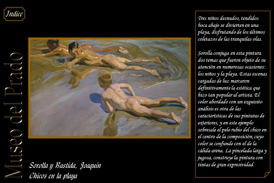 Sorolla y Bastida, Joaquín Chicos en la playa