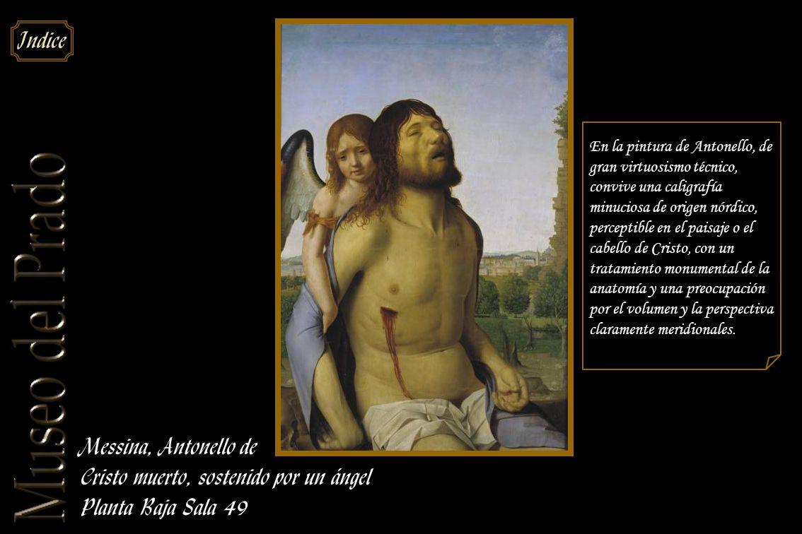 Cristo muerto, sostenido por un ángel Planta Baja Sala 49