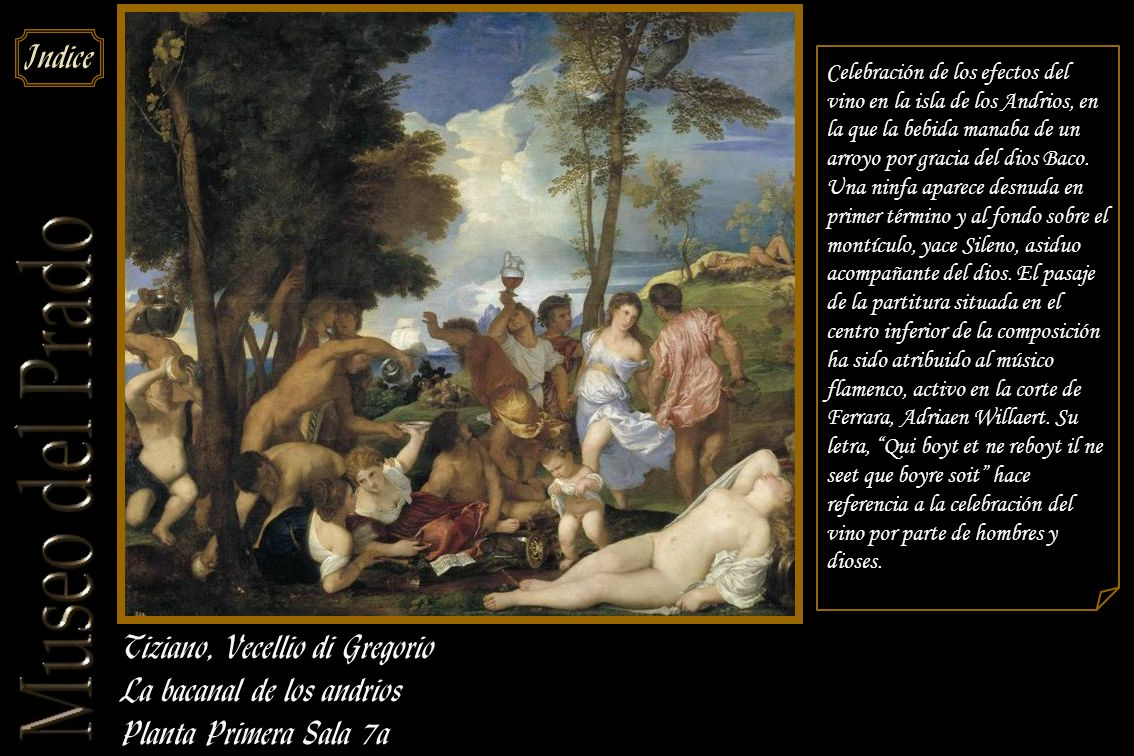 Tiziano, Vecellio di Gregorio La bacanal de los andrios