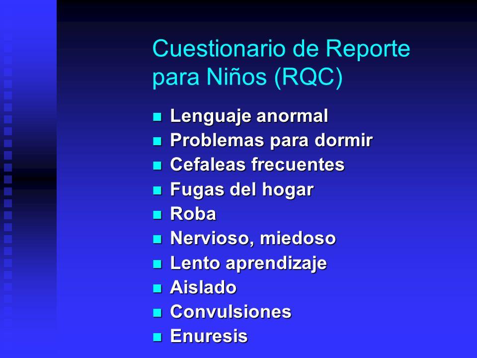 Cuestionario de Reporte para Niños (RQC)