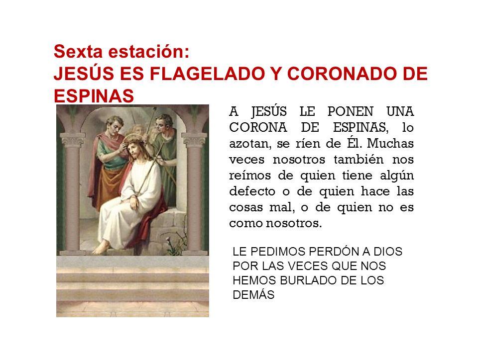 JESÚS ES FLAGELADO Y CORONADO DE ESPINAS