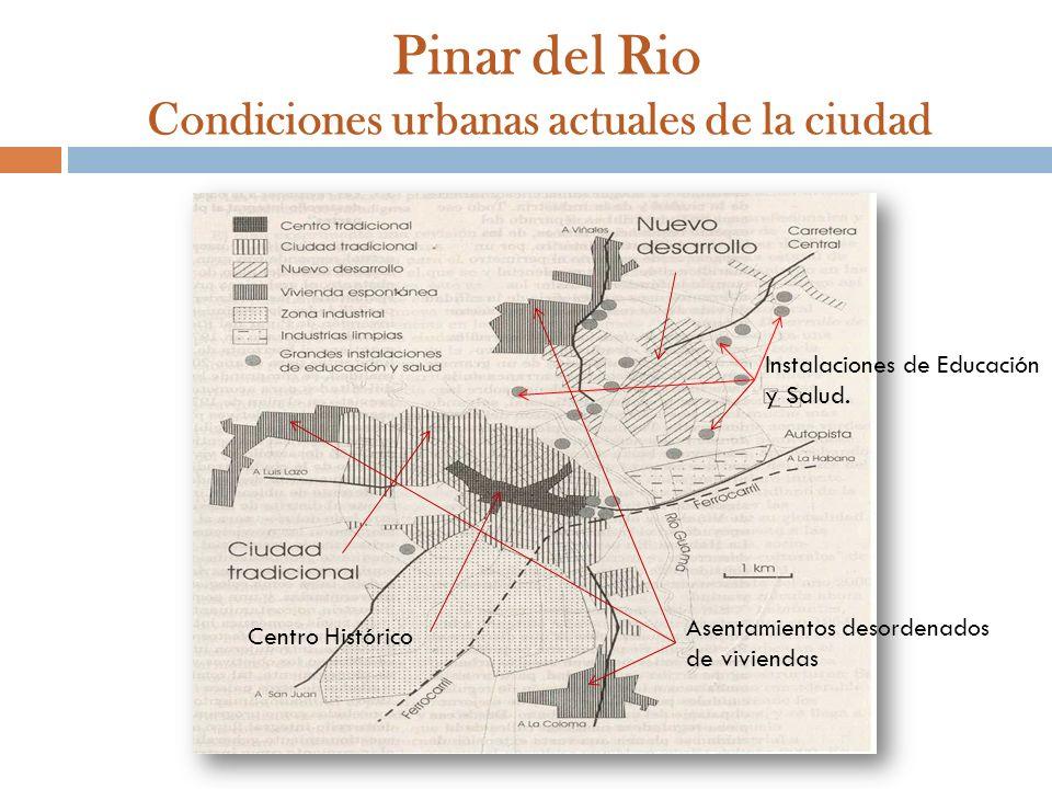 Pinar del Rio Condiciones urbanas actuales de la ciudad