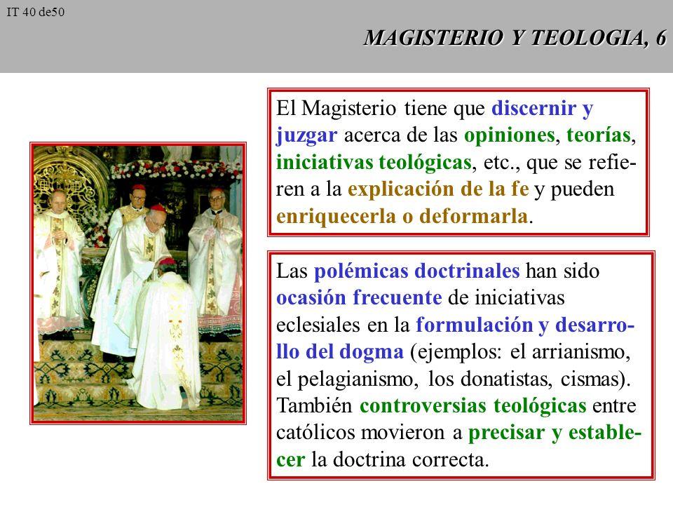 El Magisterio tiene que discernir y