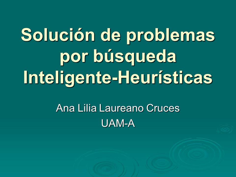 Solución de problemas por búsqueda Inteligente-Heurísticas
