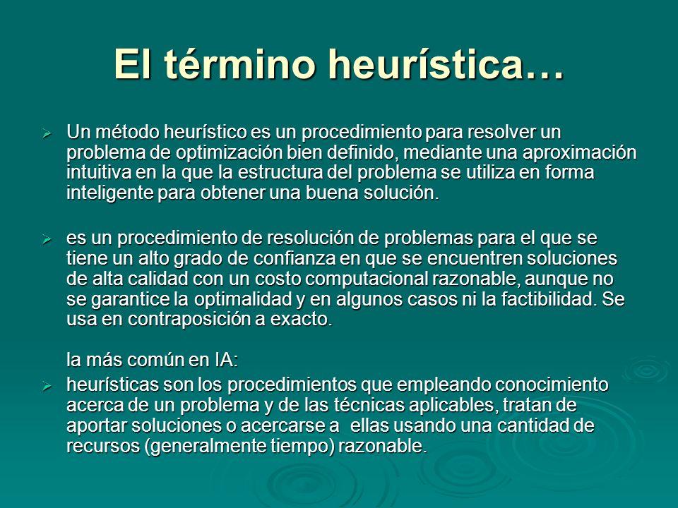El término heurística…