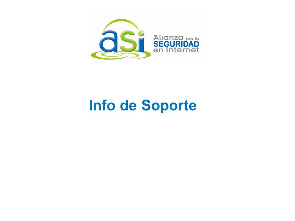 Info de Soporte