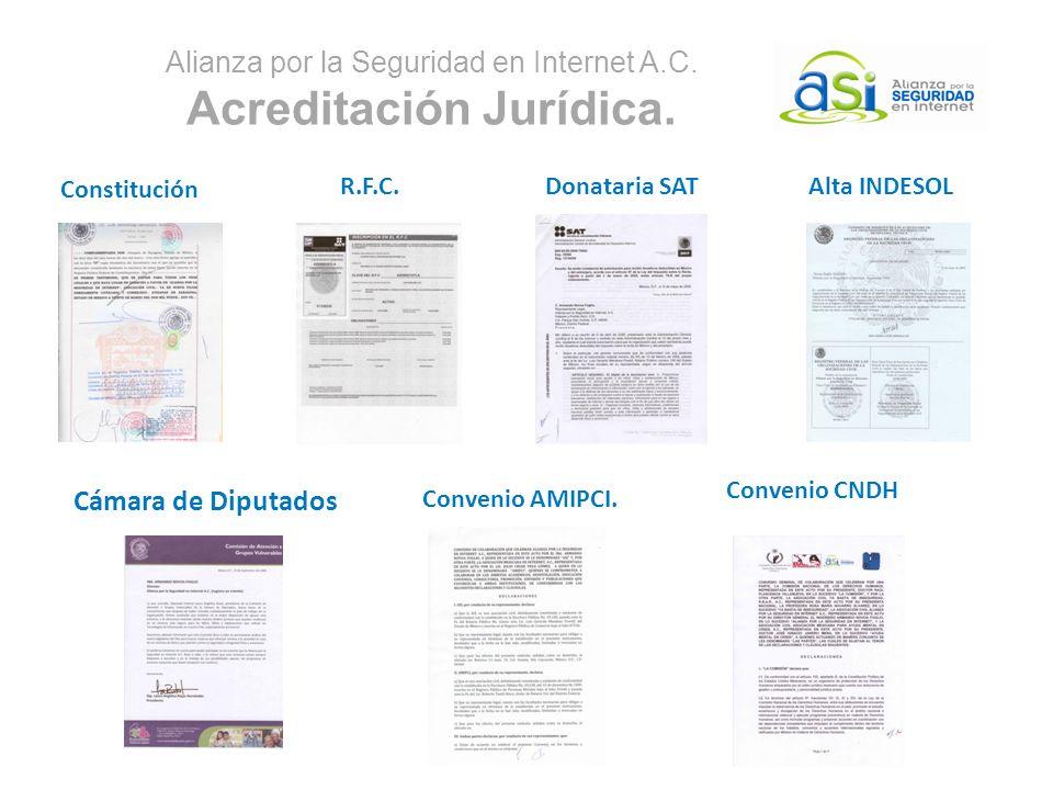 Alianza por la Seguridad en Internet A.C. Acreditación Jurídica.