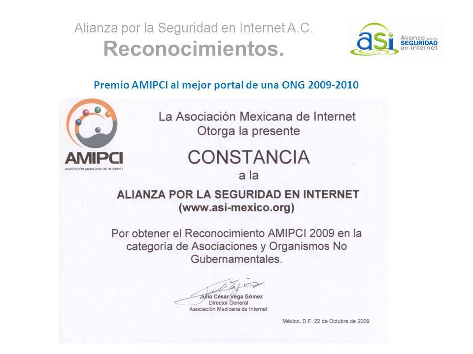 Alianza por la Seguridad en Internet A.C. Reconocimientos.