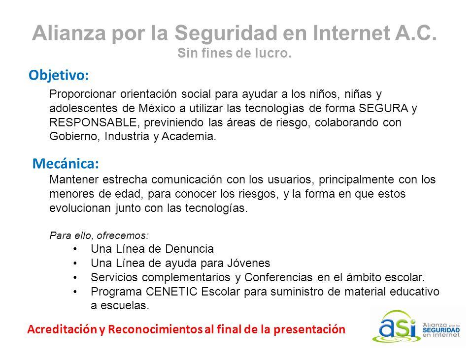 Alianza por la Seguridad en Internet A.C. Sin fines de lucro.
