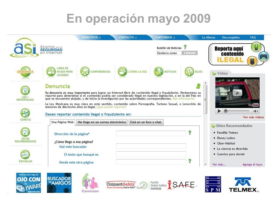 En operación mayo 2009
