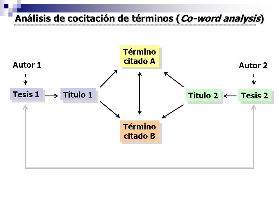 Análisis de cocitación de términos (Co-word analysis)