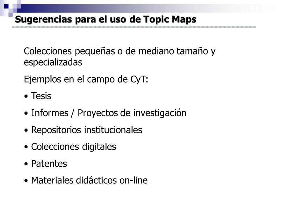 Sugerencias para el uso de Topic Maps