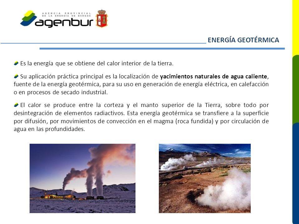 ENERGÍA GEOTÉRMICA Es la energía que se obtiene del calor interior de la tierra.