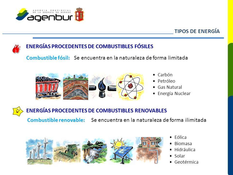 ENERGÍAS PROCEDENTES DE COMBUSTIBLES FÓSILES