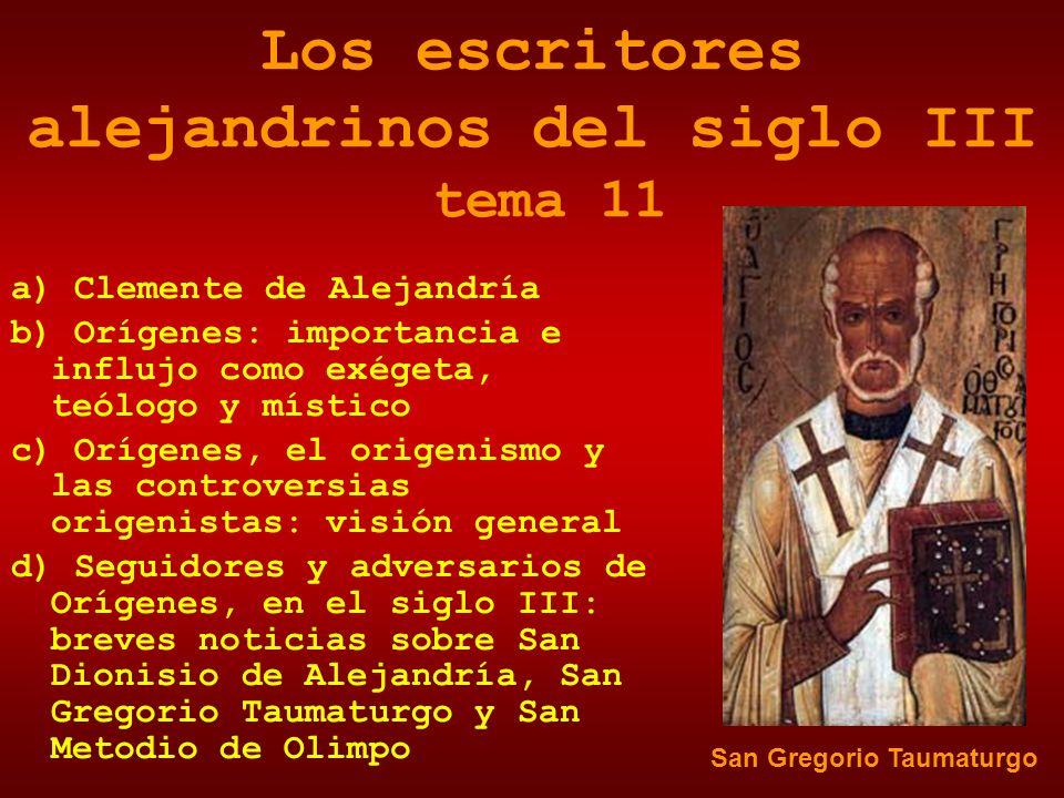 Los escritores alejandrinos del siglo III tema 11