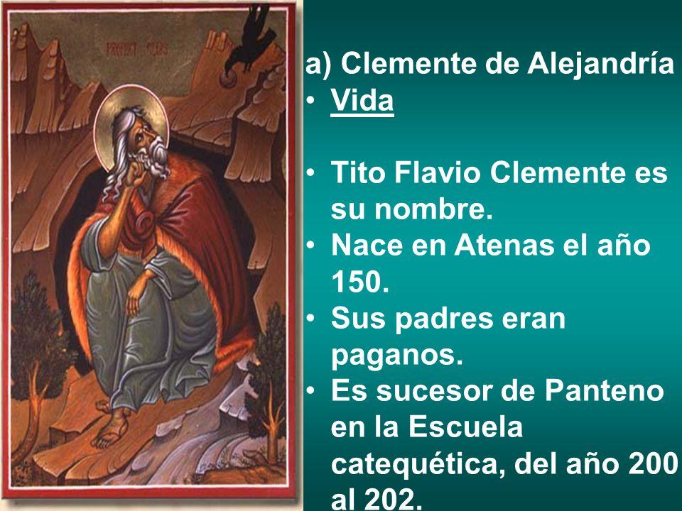 a) Clemente de Alejandría