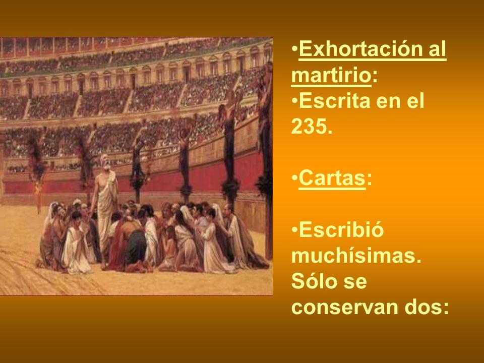 Exhortación al martirio: