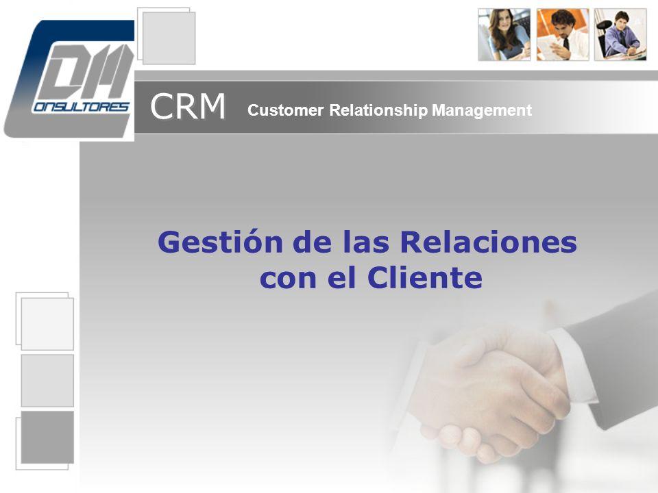 Gestión de las Relaciones con el Cliente