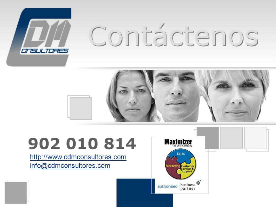 Contáctenos 902 010 814 http://www.cdmconsultores.com