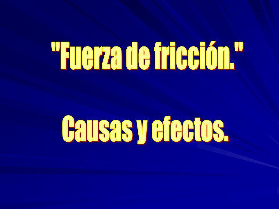 Fuerza de fricción. Causas y efectos.