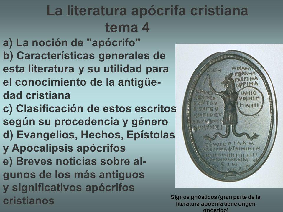 La literatura apócrifa cristiana tema 4
