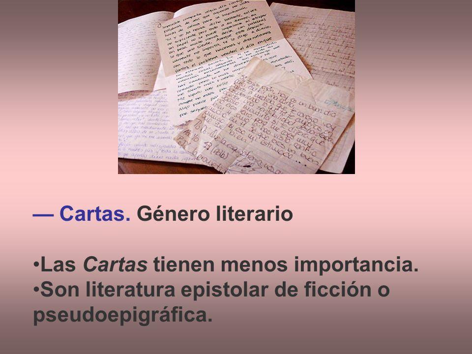 — Cartas. Género literario