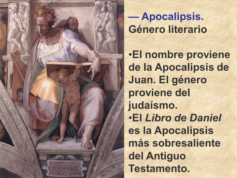 — Apocalipsis. Género literario