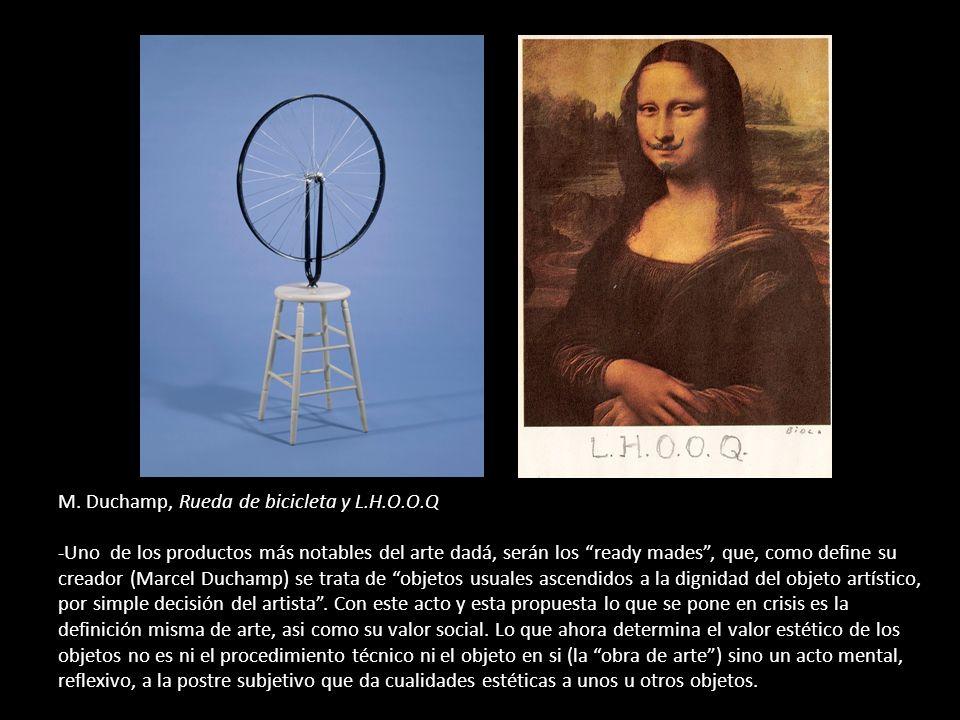 M. Duchamp, Rueda de bicicleta y L. H. O. O
