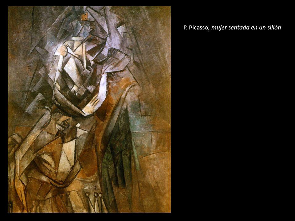 P. Picasso, mujer sentada en un sillón