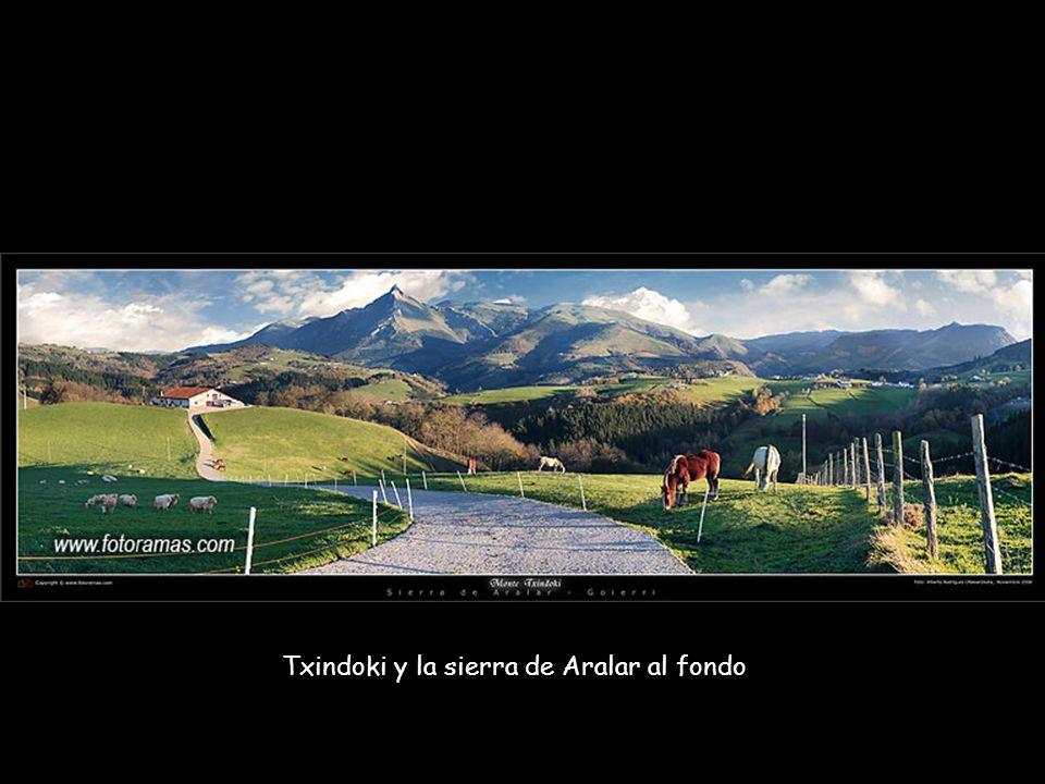Txindoki y la sierra de Aralar al fondo