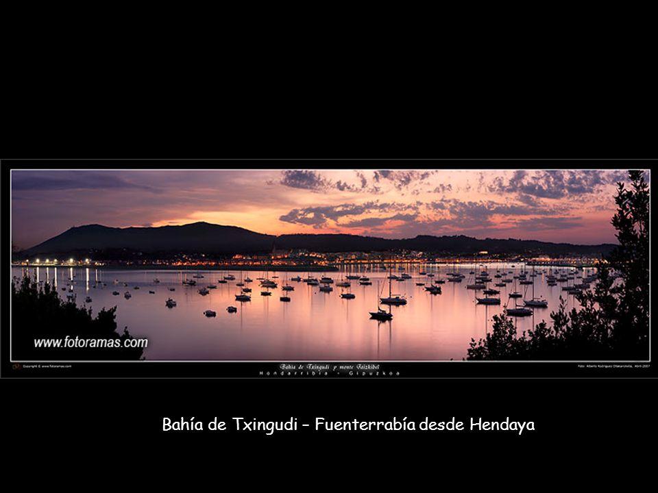 Bahía de Txingudi – Fuenterrabía desde Hendaya