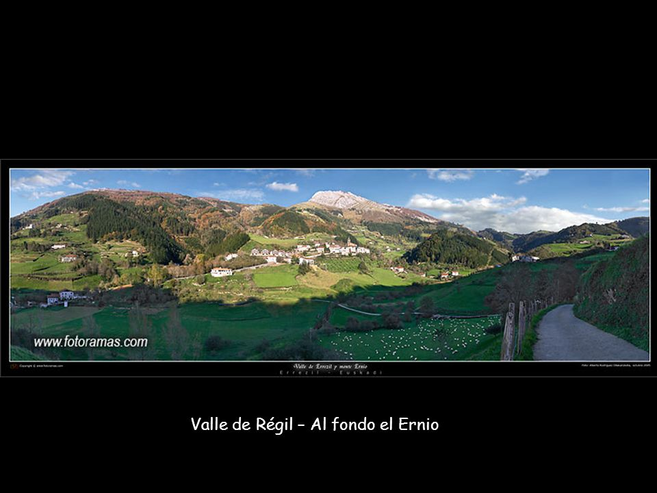 Valle de Régil – Al fondo el Ernio