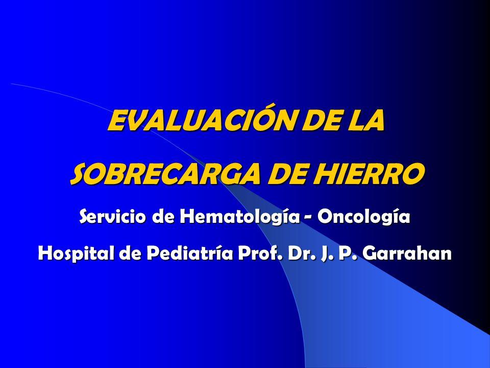 EVALUACIÓN DE LA SOBRECARGA DE HIERRO