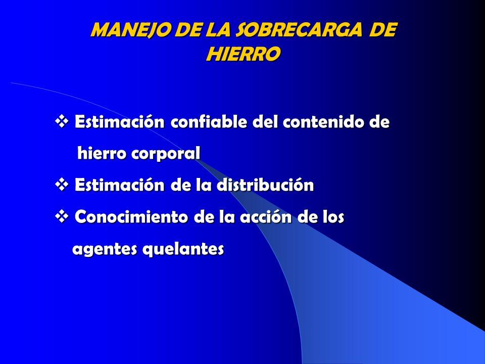 MANEJO DE LA SOBRECARGA DE HIERRO