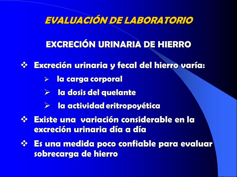 EXCRECIÓN URINARIA DE HIERRO
