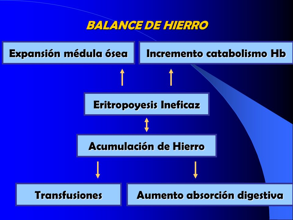 BALANCE DE HIERRO Expansión médula ósea Incremento catabolismo Hb
