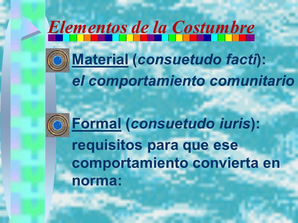 Elementos de la Costumbre