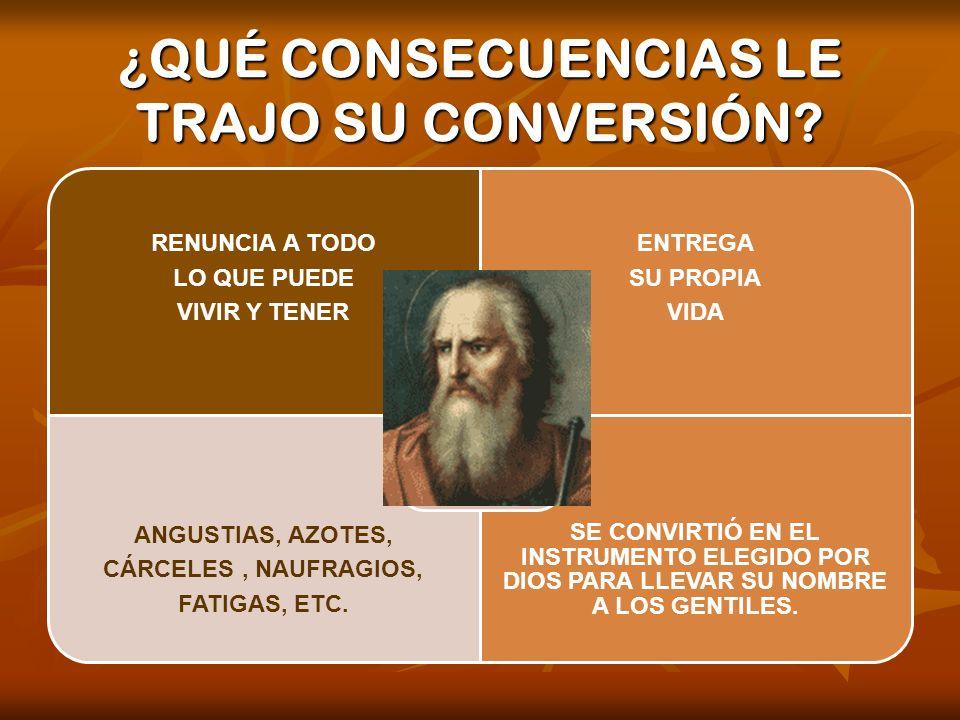 ¿QUÉ CONSECUENCIAS LE TRAJO SU CONVERSIÓN