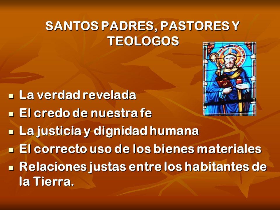 SANTOS PADRES, PASTORES Y TEOLOGOS